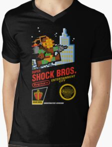 Super Shock Bros Mens V-Neck T-Shirt