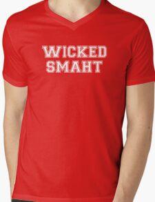 Wicked Smart (Smaht) College Boston Mens V-Neck T-Shirt