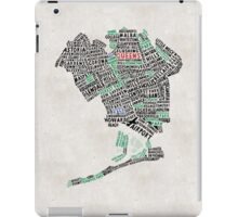 Queens New York Map Typography iPad Case/Skin
