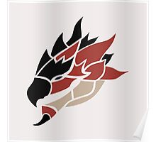 Monster Hunter - Rathalos Head Poster
