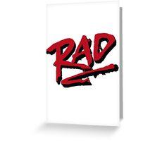 RAD 1980 BMX MOVIE Greeting Card
