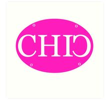 CHIC Car Plate Art Print