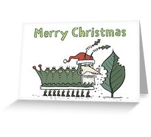 Caterpillar's Christmas Feast Greeting Card
