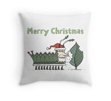 Caterpillar's Christmas Feast Throw Pillow