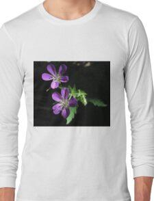 Purple Highlights Long Sleeve T-Shirt