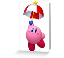 Parasol Kirby Greeting Card