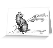 Harvest Rat Greeting Card