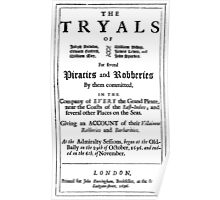 Historical Pirate Trials Poster