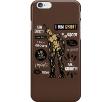 Groot Famous Quotes iPhone Case/Skin