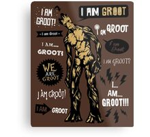 Groot Famous Quotes Metal Print