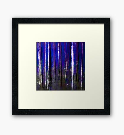 abstract  blue stripes Framed Print