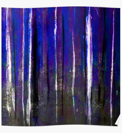 abstract  blue stripes Poster