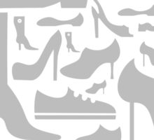 Footwear a background Sticker