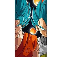 Son Goku and Vegeta - SSJ Blue Photographic Print