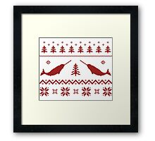 Ugly Narwhal Christmas Sweater Framed Print