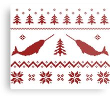 Ugly Narwhal Christmas Sweater Metal Print