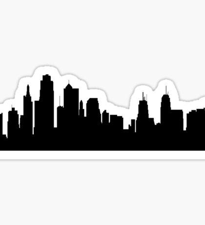 Kansas city skyline Sticker