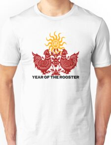 Chinese Zodiac Year of The Rooster Papercut Unisex T-Shirt