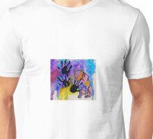 pit bull hand print Unisex T-Shirt