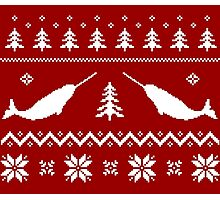 Ugly Narwhal Christmas Sweater Photographic Print