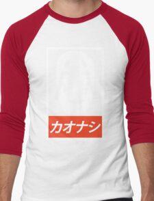 No Face - Spirited Away // Obey Parody Men's Baseball ¾ T-Shirt