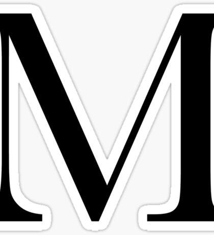 The Letter 'M' Sticker