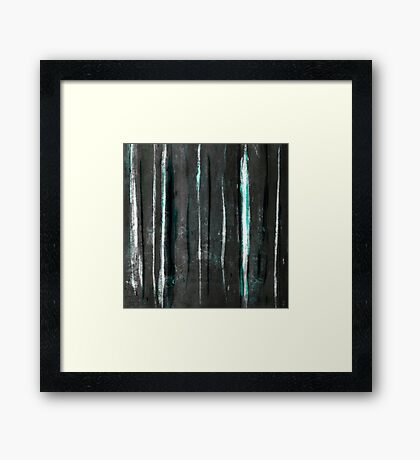 abstract  grey stripes Framed Print