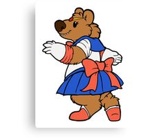 Pretty Sailor Bear Canvas Print