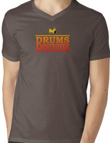 Colorful Drums Destroyer Mens V-Neck T-Shirt