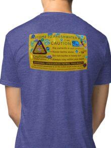 Freshwater West Warning Sign Tri-blend T-Shirt