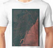 Barcelona Map Red Unisex T-Shirt