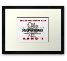 Chinese Zodiac Rooster Traits Framed Print