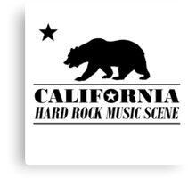 California Hard Rock Music (black) Canvas Print