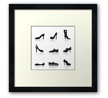 Icon footwear Framed Print