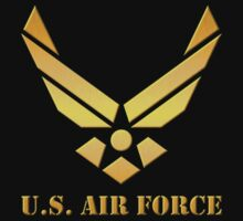 Golden U.S Air Force Kids Tee