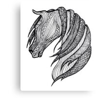 Zentangle Patterned Horse Canvas Print