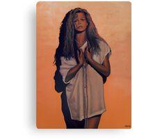 Kim Basinger Painting Canvas Print