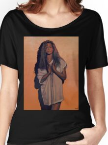 Kim Basinger Painting Women's Relaxed Fit T-Shirt