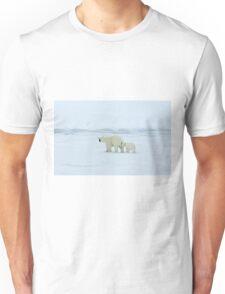Polar Bear and Cub Unisex T-Shirt