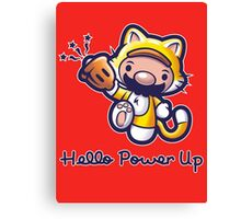 Hello Power Up Canvas Print