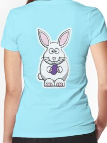 Rabbit, Cartoon, Easter Bunny Women's Fitted V-Neck T-Shirt