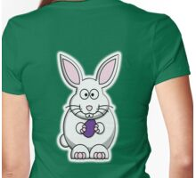 Rabbit, Cartoon, Easter Bunny Womens Fitted T-Shirt