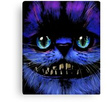 Big Face Cheshire Cat T-Shirt Canvas Print