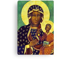 Polish Black Madonna Poland Our Lady of Czestochowa Canvas Print