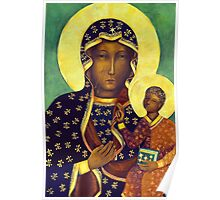 Polish Black Madonna Poland Our Lady of Czestochowa Madonna and Child Picture Virgin Mary Painting Poster