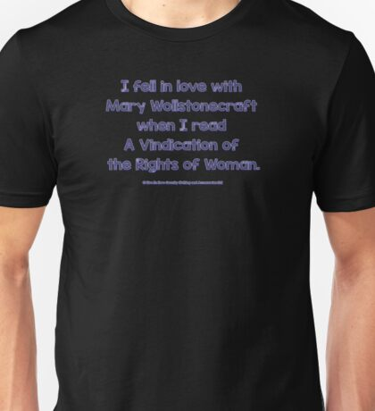 Feminist - I Fell In Love With Mary Wollstonecraft - Blue Unisex T-Shirt