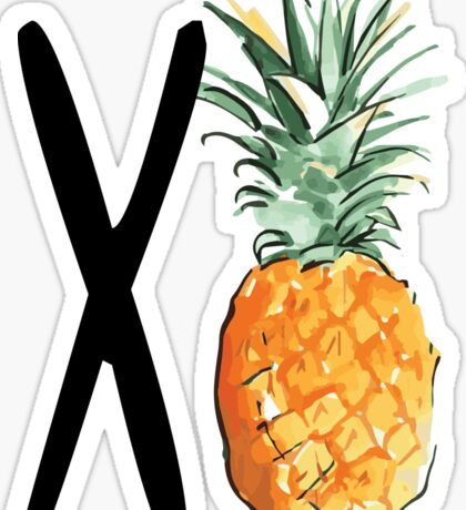Chi O Pineapple Sticker