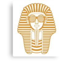 King Tut Egypt Pharaoh Shutter Shades Canvas Print