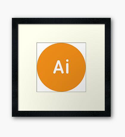 Adobe CC Illustrator Circles Framed Print