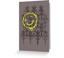 221B wallpaper Greeting Card
